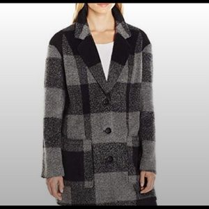 Levi's Oversized Boyfriend Plaid Wool Coat size L!